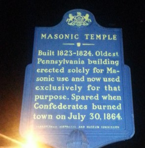 Temple's historical marker