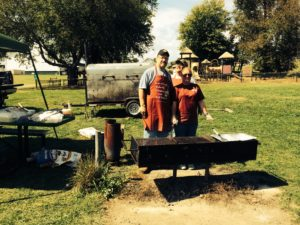 The Grillmasters... Bro Wes  Hirshhorn, Kelly Snell, and the ring leader - Bro Chuck Wyant