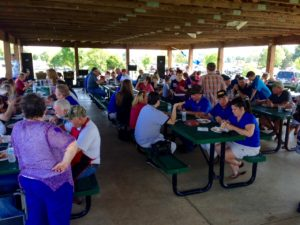 Great Fellowship and lots to eat at the D2 Picnic