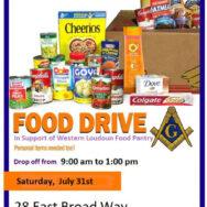 July 31 Food Drive